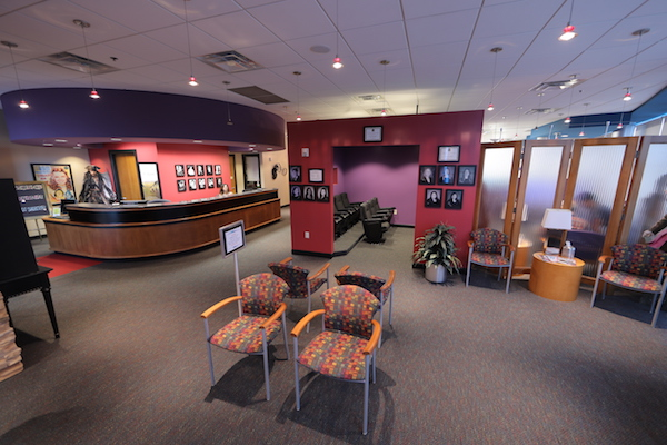 Dr. Michael Unthank patient waiting area design