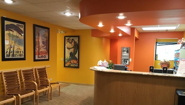 Rocke Orthodontics reception and waiting area